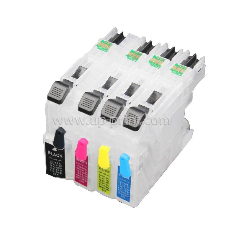 Conjuntos 5 LC103 cartucho de tinta recarregáveis Para O Irmão DCP-J152W MFC-J245 MFC-J285DW MFC-J450DW MFC-J470DW MFC-J475DW impressora
