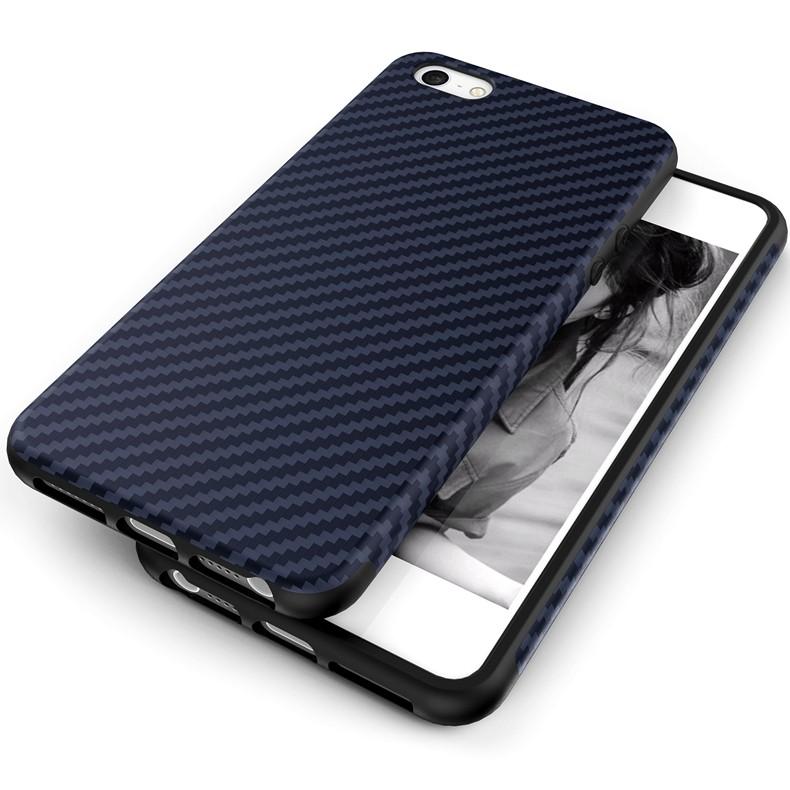 Luksusowe Elegent Wysokiej Jakości Włókna Węglowego Miękki Futerał Dla iPhone 5 5S SE Skórzana Skóry Tekstury Opon 3D Obrońca Pokrywa Dla iPhone SE 15