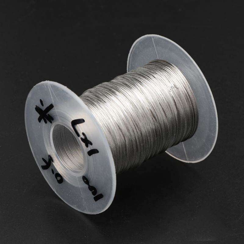 100m 304 Stainless Steel Wire Rope Soft Fishing Lifting Cable 1×7 Clothesline With 30 Aluminum Ferrules enlarge