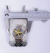 Boucle de ceinture énorme cow-boy de louest   Boucle de LONG argent, énorme boucle de TEXAS RANGER STAR RODEO