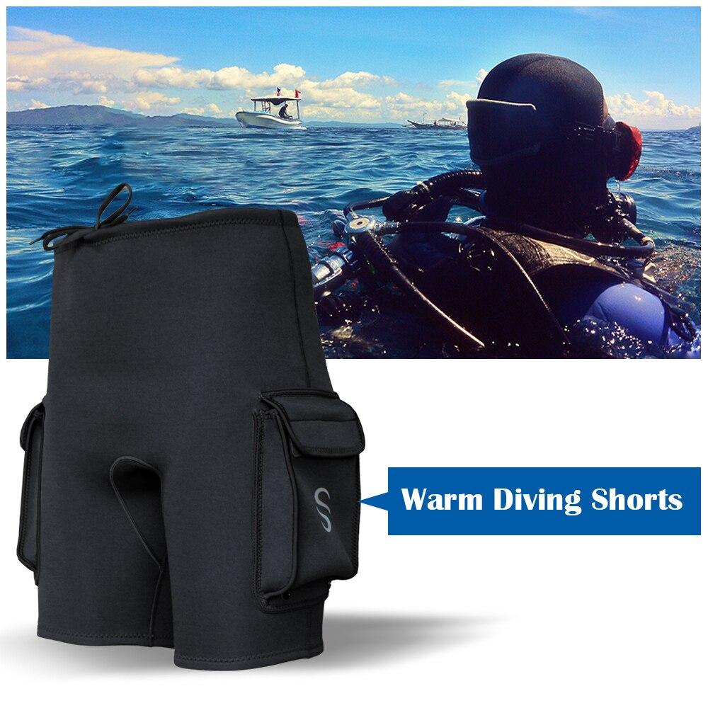 Traje de baño de neopreno de 3MM para hombre, trajes de buceo, bañadores de natación, pantalones cortos, pantalones de esnórquel, pantalones cortos para surf