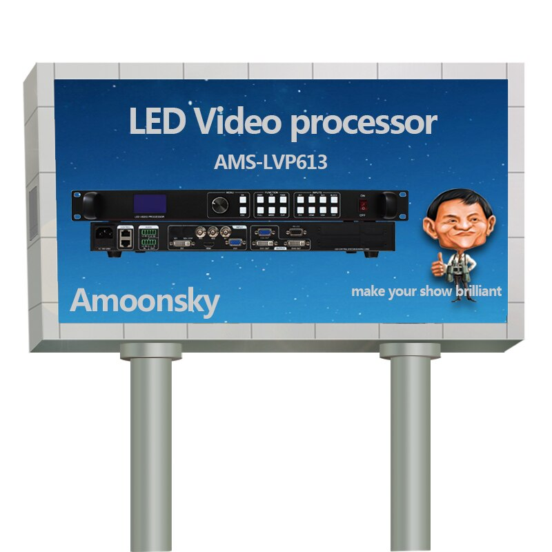 Última gran oferta AMS-LVP613 Controlador led rgb de montaje en pared de halo de vídeo cuádruple Módulo De Pantalla led lcd oled