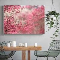 Toile Art mer vague sakura affiches cascade Nature paysage mur oeuvres paysage peinture moderne decor a la maison Cuadros