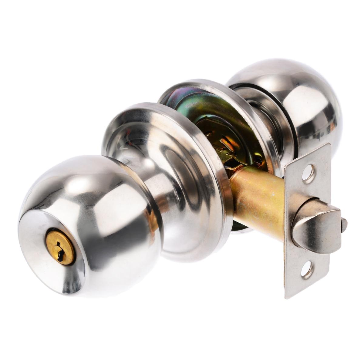 Mayitr круглые дверные ручки из нержавеющей стали с шариковыми ручками, набор защелок для прихожей, для дома, ванной, дверная фурнитура