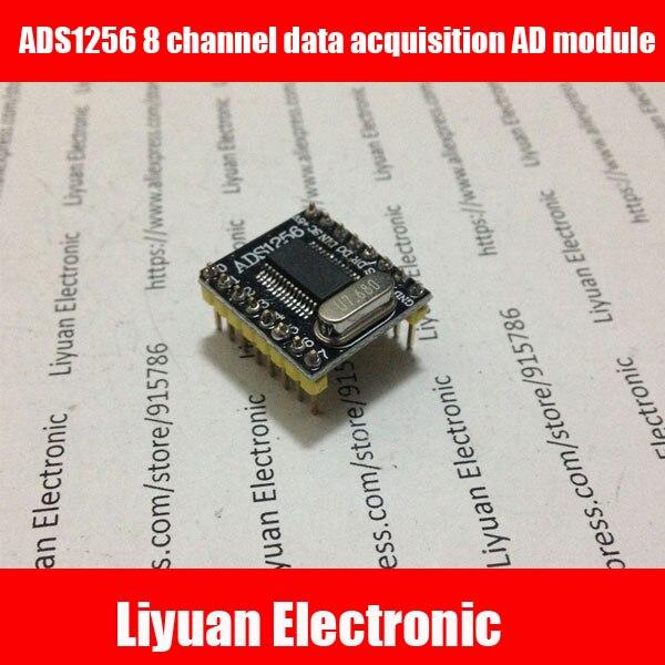 ADS1256 8 channel data acquisition AD module kit  /24 Bit Multichannel acquisition system 30Khz for Electronic Design Contest