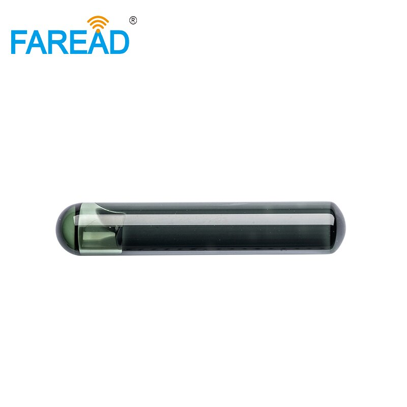 Etiqueta de vidrio pasivo RFID x10pcs 4*22mm ISO11784/5 EM4305 para identificación animal de baja frecuencia