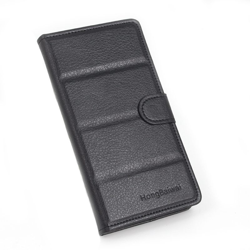 Marca HongBaiwei para Alcatel One Touch Idol Mini 6012 6012A 6012X 6012 W/X W cuero flip fundas para TCL S530t TCLS530T