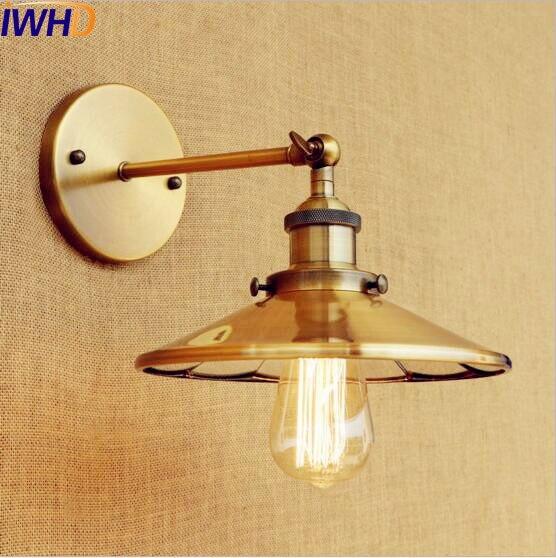 IWHD cobre dorado Pared Vintage lámpara hogar iluminación brazo Edison Retro lámparas de Pared Loft aplique de Pared Industrial Apliques de Pared