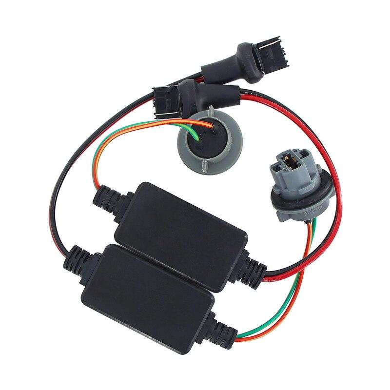 Resistor Caubus T20 7440 7443 W21/5 W W21W luces de freno LED intermitente trasero sin Error decodificador de carga parpadeante Fix Hyper Flash
