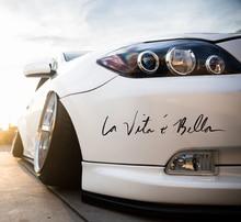 La Vita e Bella-autocollants lettres réfléchissants   Autocollants étanches pour voiture, carrosserie complète, style tête de voiture, vinyle créatif, solidité r15