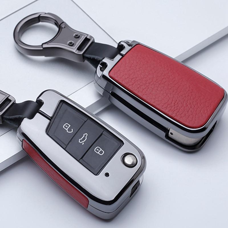 Couvercle de porte-monnaie pour VW Golf 7 Polo   Bora MK7 Passat pour Skoda Octavia A7 Kodiaq Seat Leon Ibiza clé à rabat