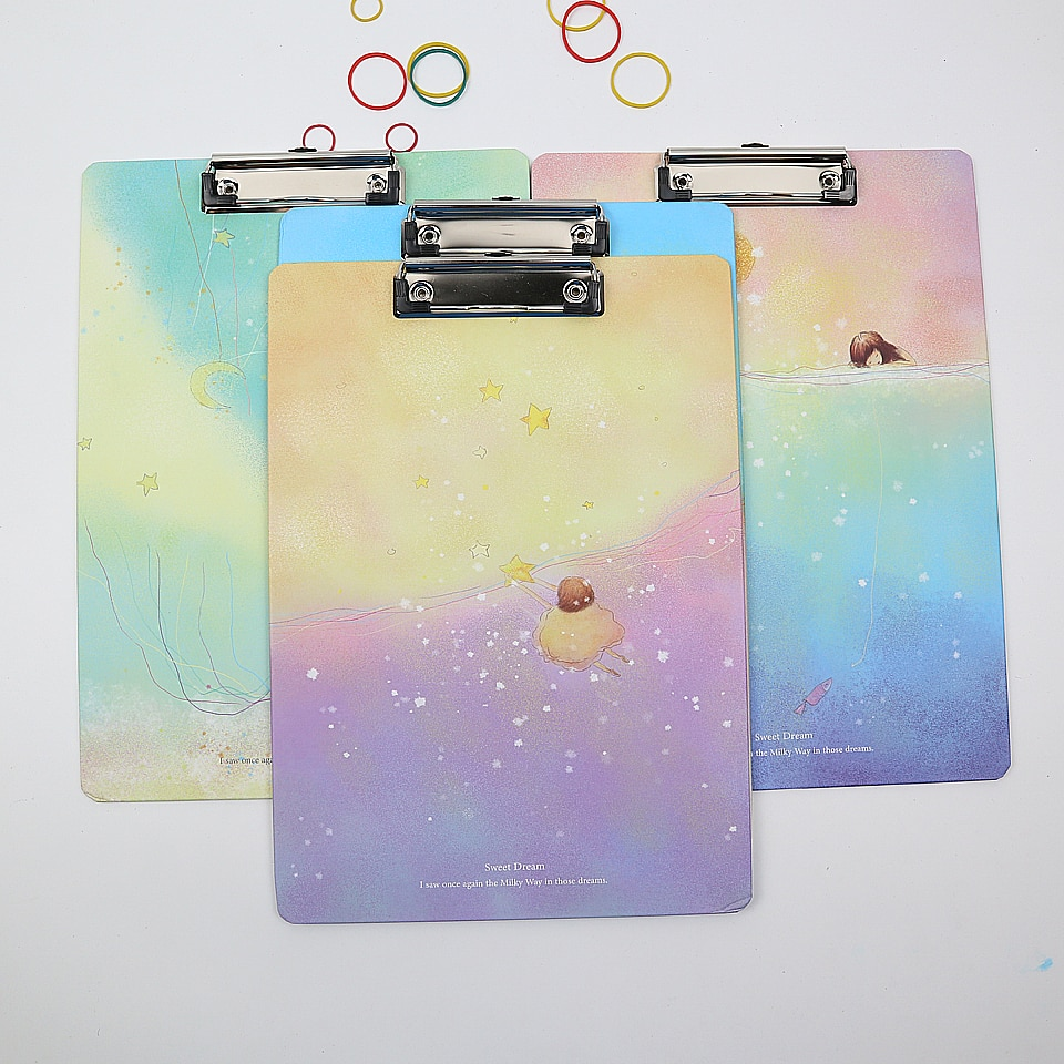 1 Uds. Clips bonitos de papel para documentos A4 alfombrilla de pintura para estudiantes, carpeta para documentos, regalo para niños, material escolar para oficina