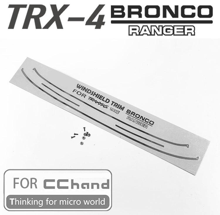 Etiqueta engomada del ajuste del WINDSHIEDL del METAL para las piezas del coche de CCHAND TRX-4 TRX4 BRONCO RC