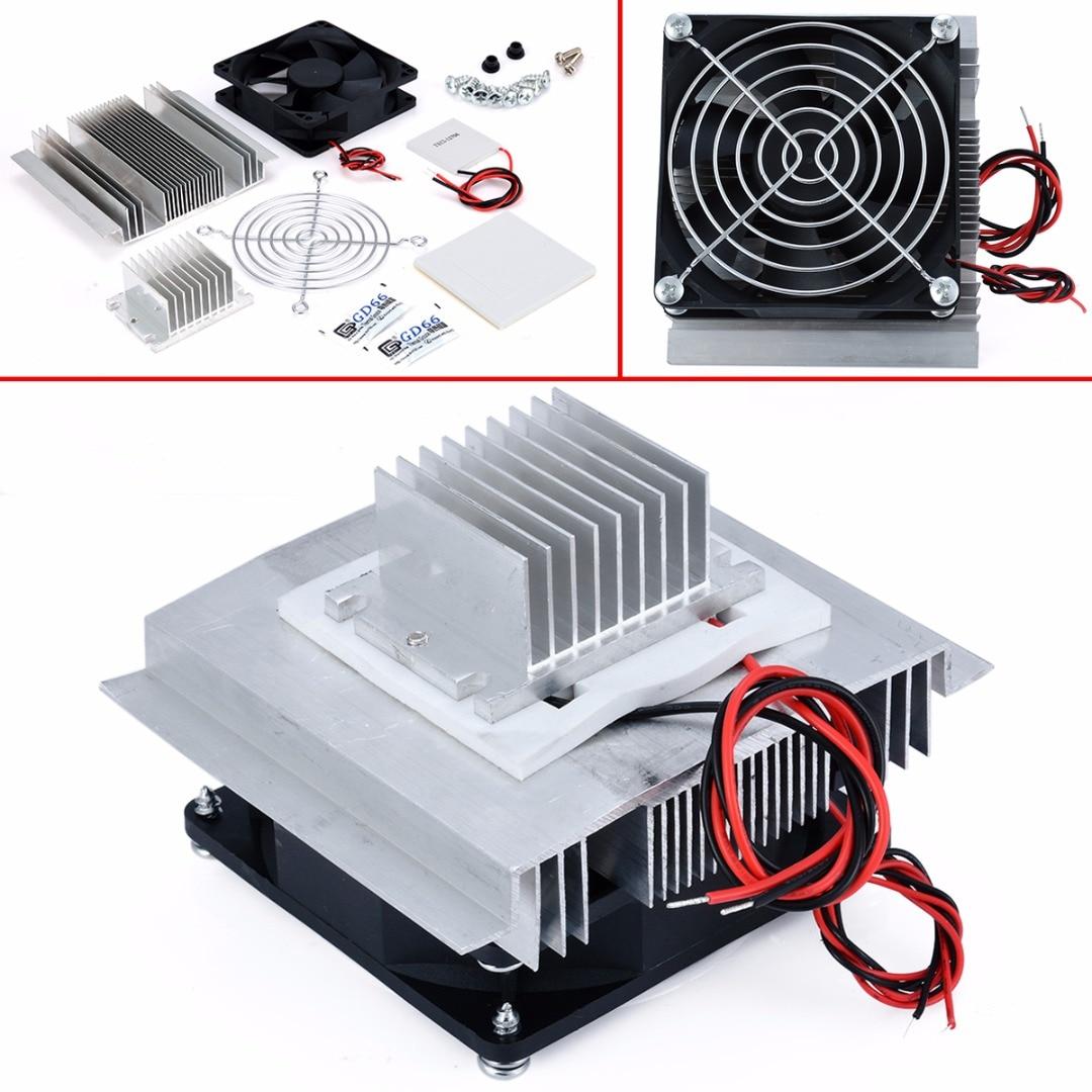 Dc 12v termoelétrico peltier, sistema de resfriamento, ar condicionado semicondutor, kit diy