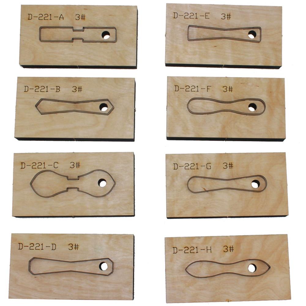 Designer leather craft template cutter 3# 5# zipper head die cutting knife mould leather hole punches tool set deri el aletleri