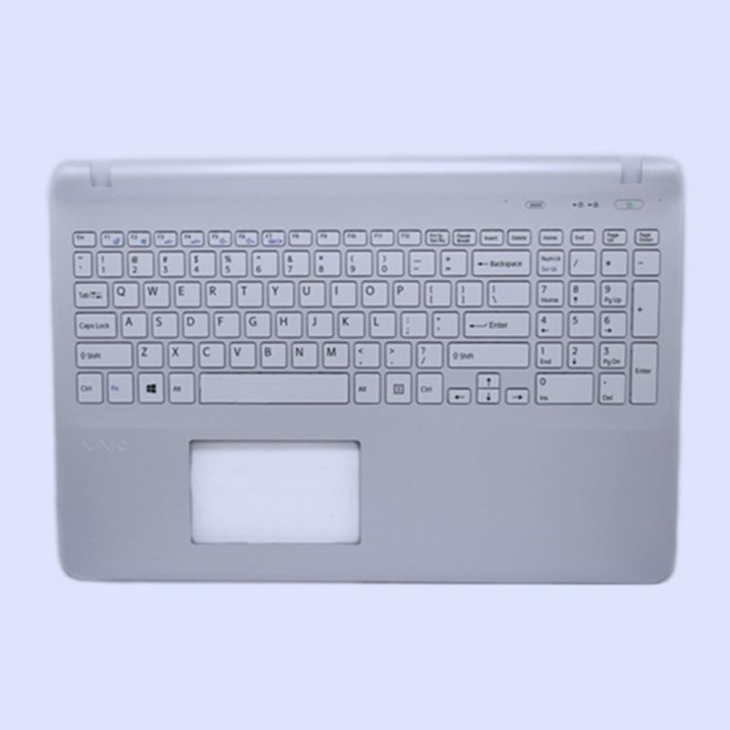 Nueva funda superior de repuesto Original para ordenador portátil con teclado estadounidense para Sony Vaio SVF15 SVF152 FIT15 SVF151 SVF153 W/sin panel táctil