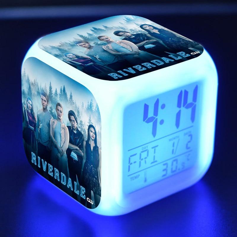 Riverdale Action Figures LED Alarm Clock Colorful Flash Night Light TV Figurine Toys