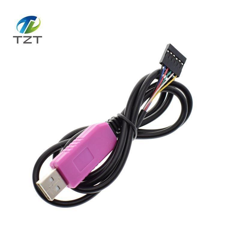 1 Uds., PL2303 HXD 6Pin USB TTL RS232, convertidor de Cable Serial PL2303HXD Compatible Win XP/VISTA/7/8/8.1/Android OTG bueno