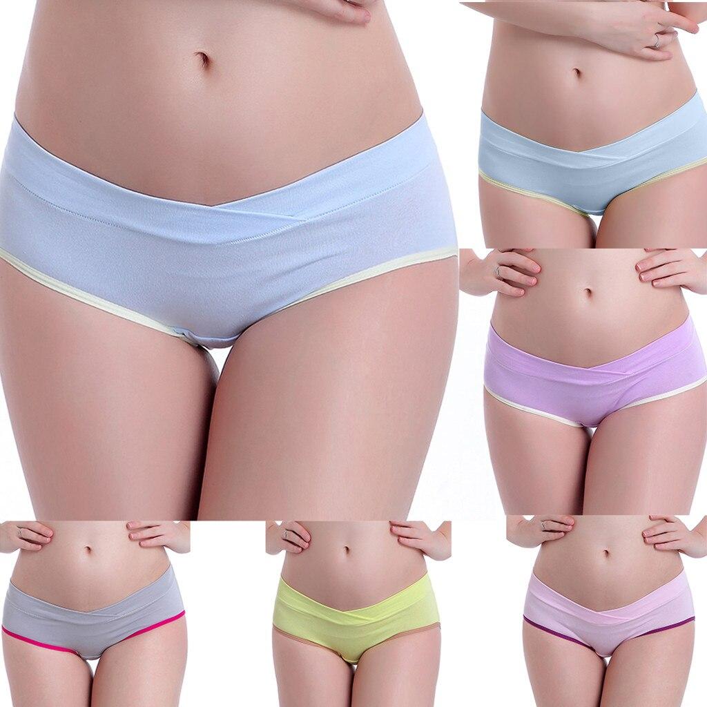 2020 roupa feminina faja postparto cintura baixa mulher grávida sexy roupa interior grávida respirável feminino em forma de v calcinha gravidez