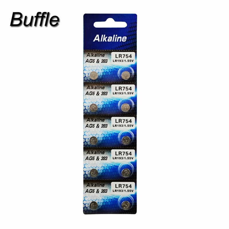 10 unids/lote Buffle AG5 LR754 batería de Li-Ion LR48 L750 393 SR754 193 398A botón pila de moneda baterías electrónico silla de masaje