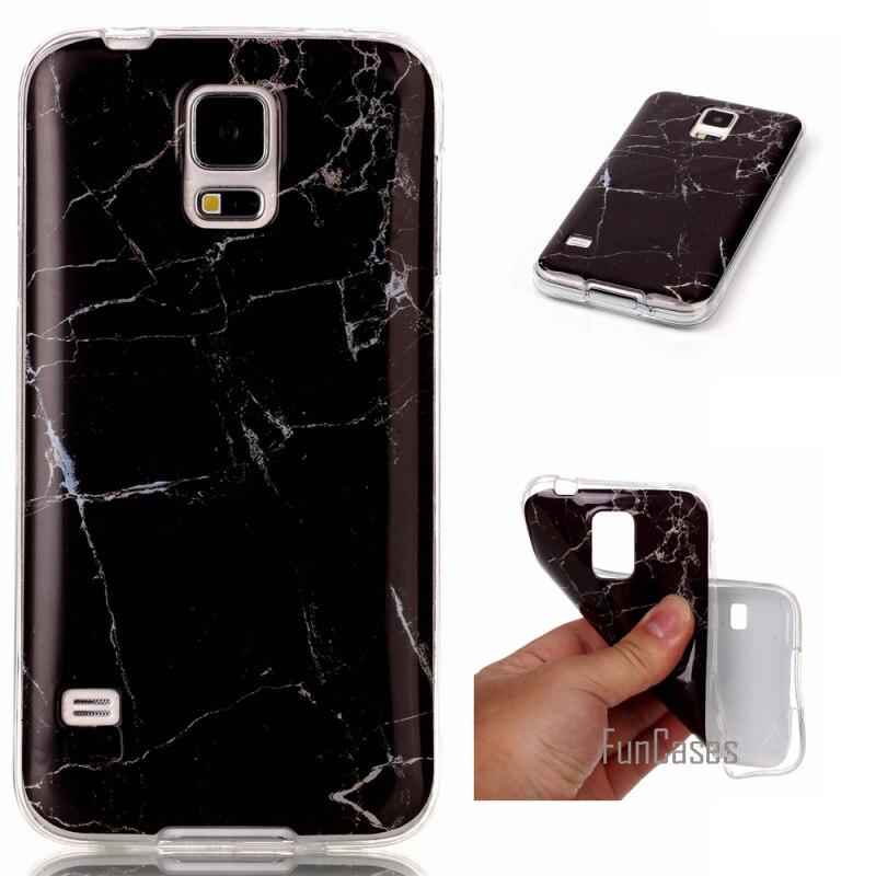 Fundas de teléfono para Samsung Galaxy S5 funda de mármol piedra imagen...