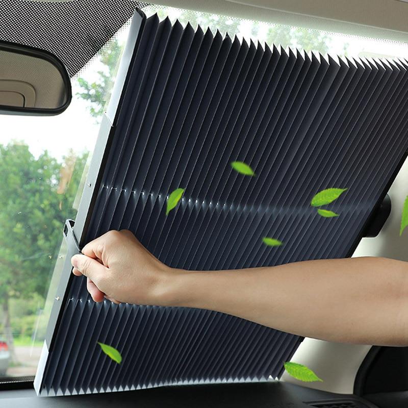 46CM/65CM/70CM/80CM Upgarde Retracta'ble SUV Truck Car Front Wind shield Sunshade Rear Window Sun Visor UV Protection