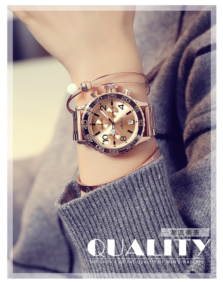 2020 Top Luxury Men Watches Women Fashion Six-pin Big Dial Casual Wristwatches New Crystal Dress Watch Female Rose Gold Watch enlarge