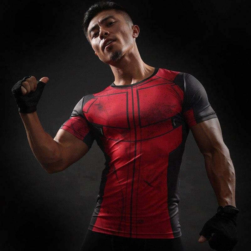 Fun Deadpool Shirt Tee 3 D Printed T-shirts Men Bodybuilding Fitness Clothing Male Tops Funny T Shirt Deadpool Costume Display