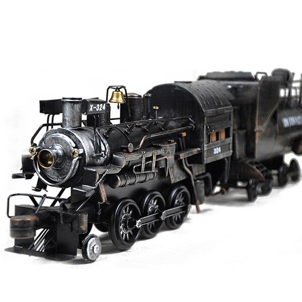 64 см большая # TOP COOL ROCK винтажная ручная работа Ретро железная Паровозик модель поезда-домашний офис бар Ретро Декор художественная статуя