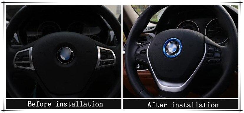 Estilo do carro de Direção-Roda Decorativa Para BMW F87 F80 F83 F82 F90 F10M F13M F12M M8 X5 F85 F15 E70 X6 F86 F16 E71 Acessórios