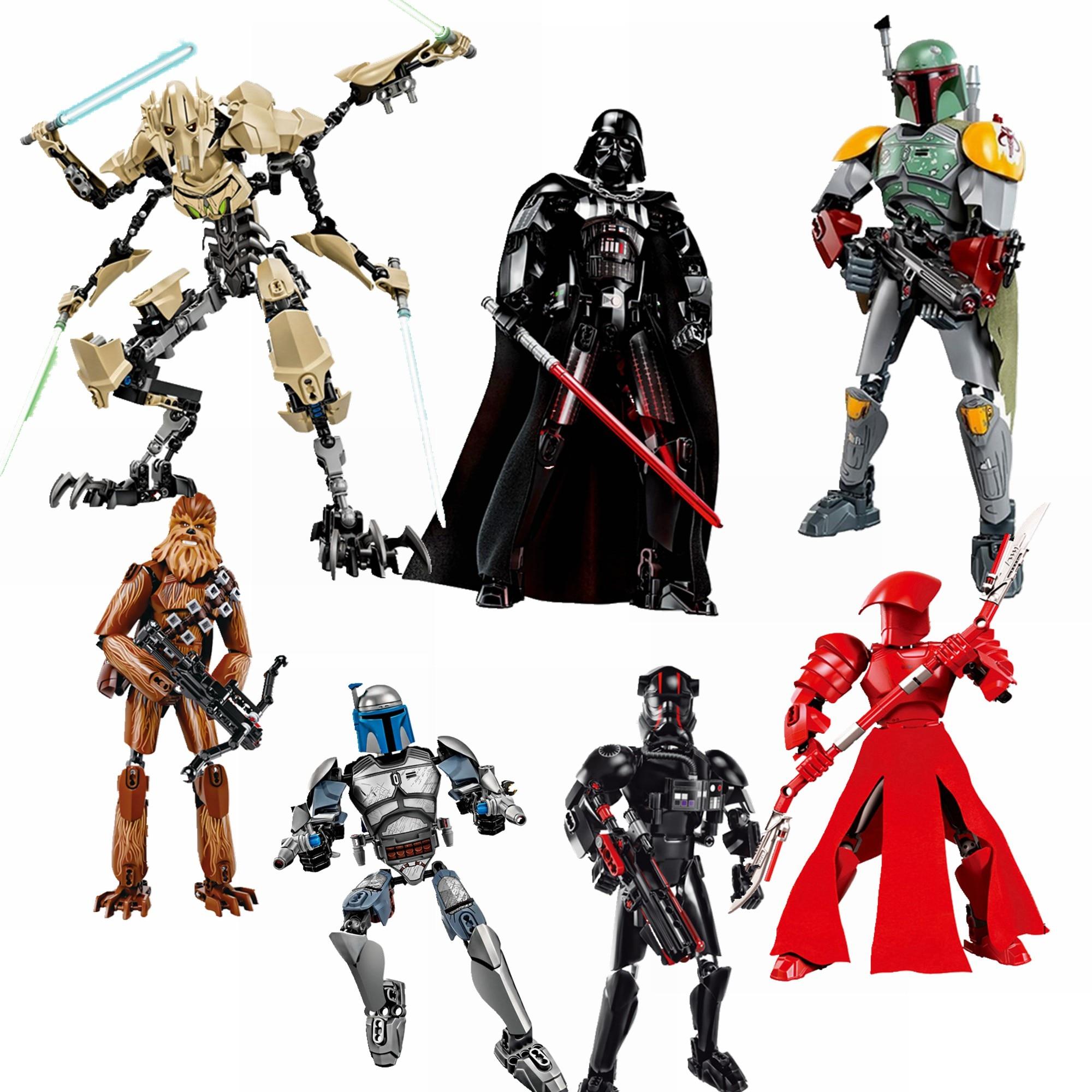 Legoing Star Wars Elite guardias pretorianos Darth Vader, el General Grievous Juguetes de bloques de construcción para niños Legoing camiseta 75528