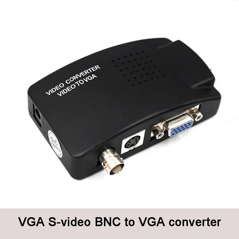 BNC к VGA видео конвертер, S-Video вход к ПК VGA выход адаптер цифровой коммутатор коробка для ПК ТВ камера DVD DVR