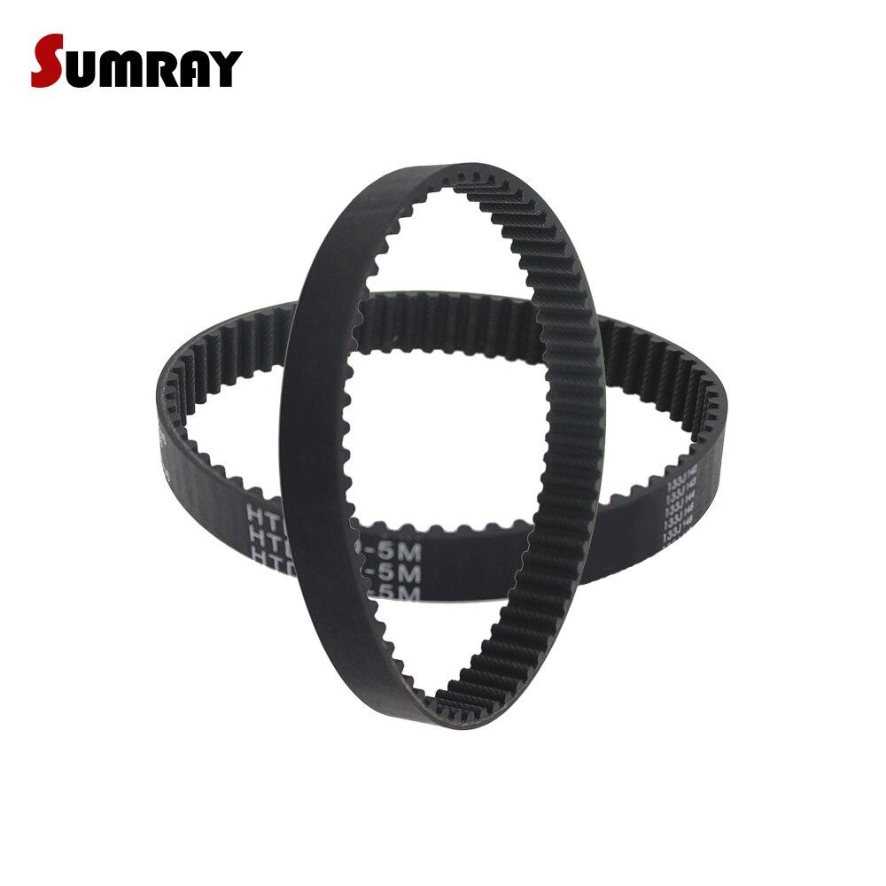 SUMRAY HTD 5M Timing Belt 5M-300/305/310/315/320/325/330/335/340/345mm Pitch Length Rubber Pulley belt  15/20/25mm Belt width