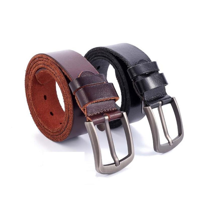 Zpxhyh de vaca de cuero genuino de lujo Correa hombre cinturones nueva moda clásico vintage pin hebilla de correa de los hombres de alta calidad cinturones