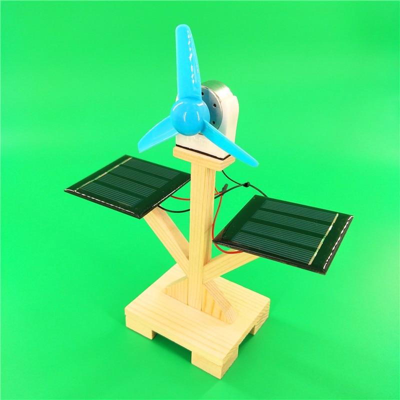 Venta al por mayor, tecnología para manualidades, ventilador solar, pequeños materiales de producción, incluidos estudiantes de escuela primaria, experimento de ciencia, hecho a mano