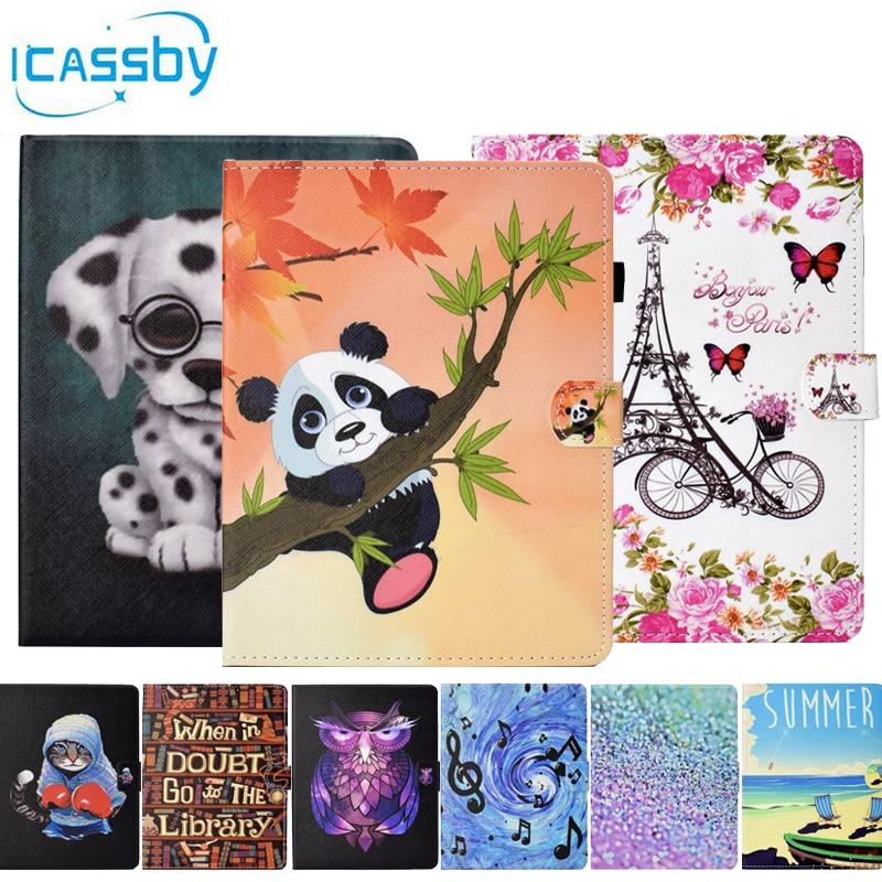Flip Book Case For Coque iPad Mini 4 Cute Cat Panda Dog Leather Wallet Phone Cover For Apple iPad Mini 4 Mini4 Case Etui Capinha