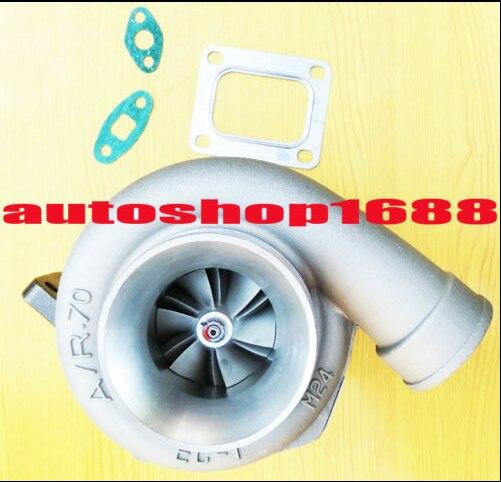 T66-5 GT35 GT3584 a/r 0,70 a/r. 81 T4 brida enfriada por aceite 3,00 pulgadas V-banda 360 grados de empuje diario rodamiento