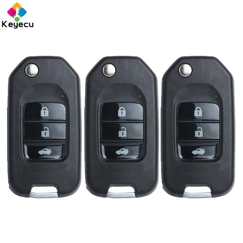 Llave remota Universal KEYECU 3 unids/lote NB-Serie 3 botones para KD900 KD900 +, control remoto keydiy FOB para NB10 ATT-Chrysler