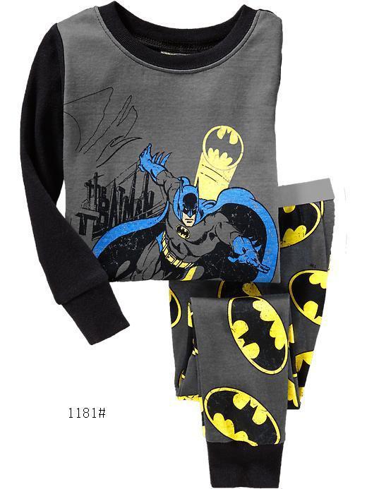 Niños niños Super Pijamas Niño ropa de dormir conjuntos de ropa de manga larga infantil Bata para niño Pijamas de niños
