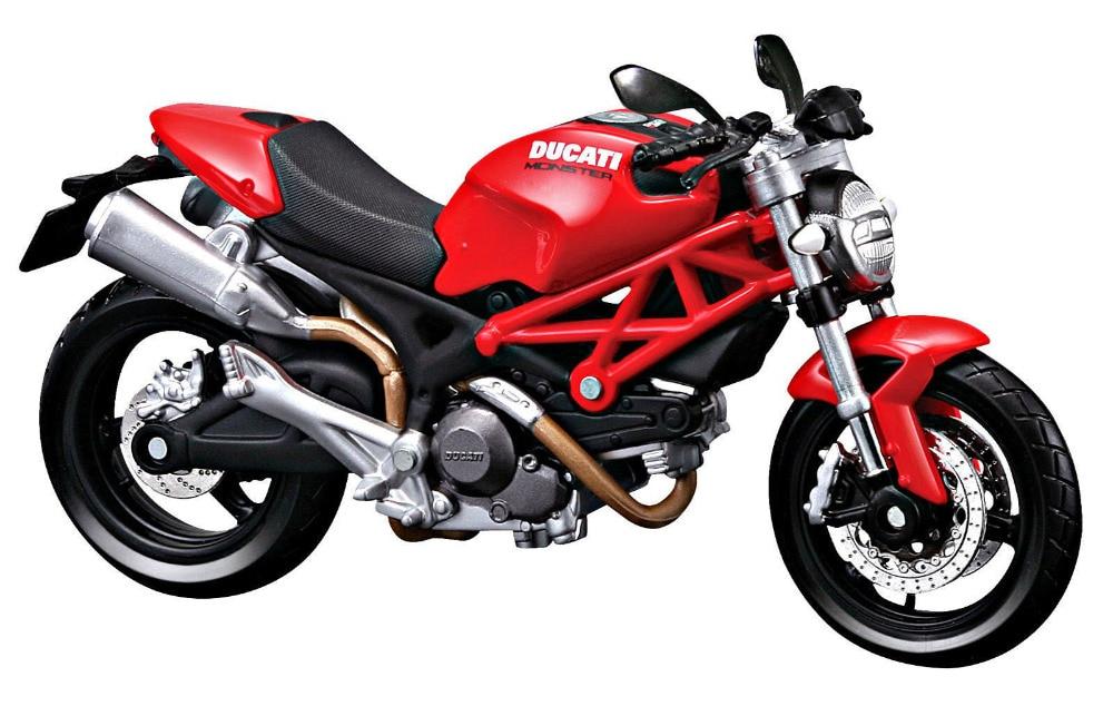 MAISTO 112 DUCATI Monster 696 moto roja, juguete en miniatura, moldeado a presión, nuevo en caja