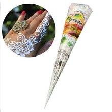 1 kegel von Weiß henna Kegel tatoo kegel Indische temporäre tattoo Für Braut Decor körper kunst