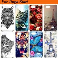 Чехол для Jinga Start 3G силиконовый чехол с изображением волка Тигр филин Роза Эйфелева башня Мягкий чехол для Jinga Start Чехлы Fundas