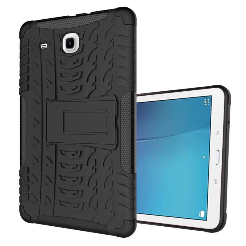 """Resistente armadura deslumbrar a prueba de golpes a prueba fundas de patas funda para Samsung Galaxy Tab E 9,6 """"T560 T561 Tablet funda Coque"""