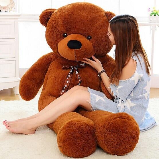 Oso de peluche gigante Kawaii grande 60cm 80cm 100cm 120cm peluche juguete de peluche suave grande abrazo oso niños muñeca regalo de cumpleaños