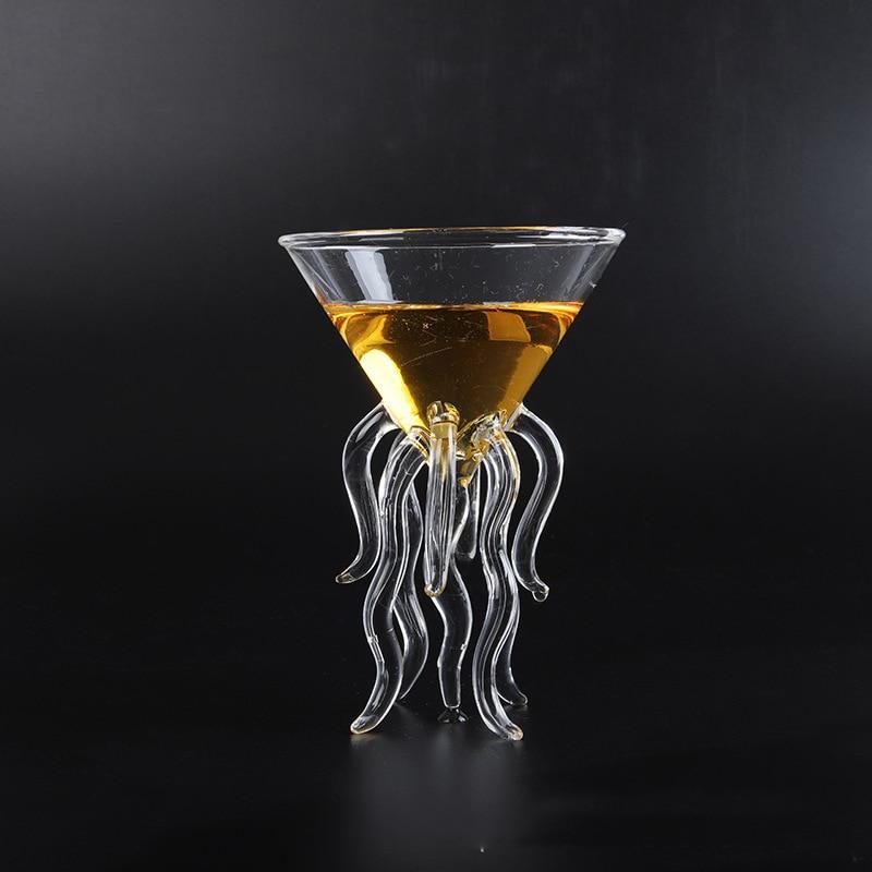 Copa de copa de cristal transparente de Medusa de cóctel de pulpo creativo de 100ML