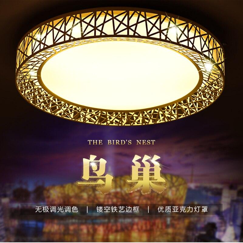 Lámpara de techo acrílica de Nido de Pájaros de hierro circular ultra delgada de estilo nórdico, lámpara led, lámparas de techo para salón, lámpara para dormitorio, accesorios de cocina