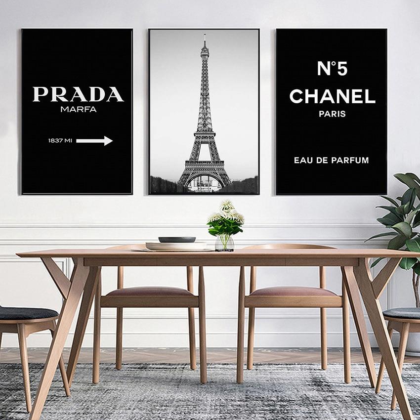 Impresiones y pósteres de la Torre Eiffel, pinturas en lienzo, cuadros de pared para sala de estar, decoración nórdica para el hogar, imágenes sin marco