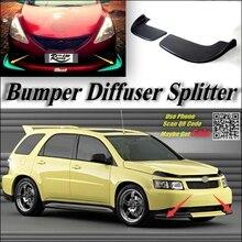 Car Splitter Diffuser Bumper Canard Lip For Chevrolet Equinox Tuning Body Kit / Front Deflector Flap Chin Fin / Body Reduce