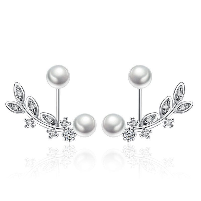 amorita boutique silver 925 unique design only one pcs sea bed design pearl ring with gift box 100% 925 sterling silver fashion shiny crystal pearl design ladies' stud earrings wholesale jewelry gift drop shipping