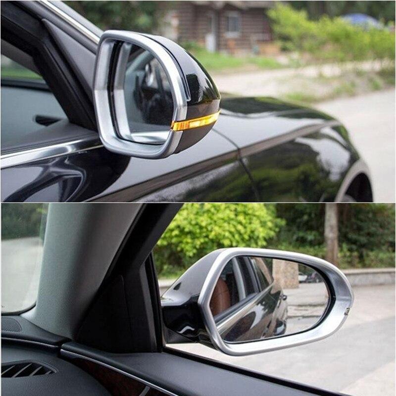 Cromo ABS marco para espejo retrovisor espejos de puerta recorte cubierta 2 uds para Audi A6 C7 2012-2017 estilo de coche Auto Accesorios